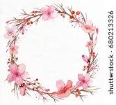 flower wedding invitation card  ... | Shutterstock . vector #680213326
