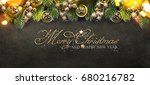 christmas and new year s... | Shutterstock . vector #680216782