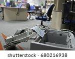 the broken safe in the... | Shutterstock . vector #680216938