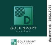 golf sport initial letter d...   Shutterstock .eps vector #680219086