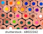 Macro Shot Of Colored Pencils...