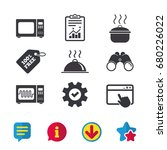 microwave grill oven icons....