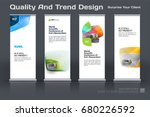 abstract business vector set of ... | Shutterstock .eps vector #680226592