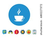 coffee cup sign icon. hot... | Shutterstock .eps vector #680227372