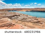 view of lake powell in summer ...   Shutterstock . vector #680231986