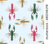 seamless pattern witn marine...   Shutterstock . vector #680248198