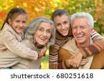 grandfather  grandmother  and... | Shutterstock . vector #680251618