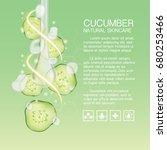 cucumber serum skin care ... | Shutterstock .eps vector #680253466