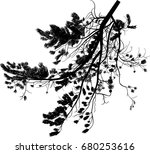 illustration with pine tree... | Shutterstock .eps vector #680253616