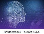 artificial intelligence. human... | Shutterstock . vector #680254666