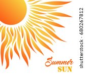 summer card with sun and text.... | Shutterstock .eps vector #680267812
