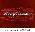 Merry Christmas In Red And...