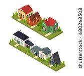 residential building set... | Shutterstock .eps vector #680268508