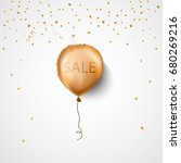 sale banner with balloon.... | Shutterstock .eps vector #680269216