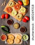 italian bruschetta with cheese  ... | Shutterstock . vector #680269318