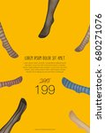 Small photo of women's mannequins legs in colored pantyhose advertisement