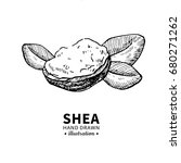shea butter vector drawing.... | Shutterstock .eps vector #680271262