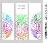 set of banners with colorful... | Shutterstock .eps vector #680271616