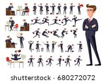 raster copy flat manager office ... | Shutterstock . vector #680272072