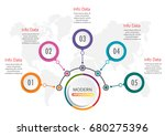 abstract infographics number... | Shutterstock .eps vector #680275396