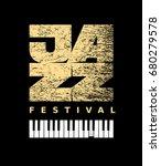vector jazz flyer on grunge... | Shutterstock .eps vector #680279578