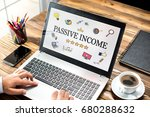 passive income concept with... | Shutterstock . vector #680288632