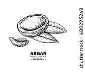 argan vector drawing. isolated...   Shutterstock .eps vector #680295268