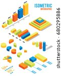 colorful isometric infographic... | Shutterstock .eps vector #680295886