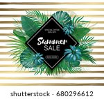 sale. rhombus summer sale... | Shutterstock .eps vector #680296612