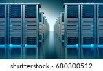 dark server room data center... | Shutterstock . vector #680300512