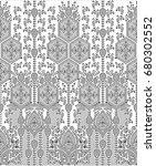 seamless border for textile... | Shutterstock . vector #680302552