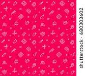 cosmetics  makeup vector pattern | Shutterstock .eps vector #680303602