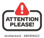 attention please badge or... | Shutterstock .eps vector #680304622