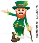 leprechaun presenting your... | Shutterstock .eps vector #68030875