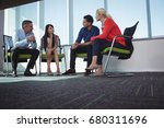 business colleagues... | Shutterstock . vector #680311696