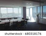 interior of empty meeting room... | Shutterstock . vector #680318176