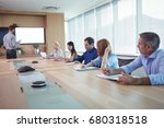 business people at conference...   Shutterstock . vector #680318518