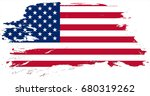 united states of america flag... | Shutterstock . vector #680319262