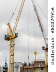 construction building site with ... | Shutterstock . vector #680324956