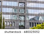 white building with... | Shutterstock . vector #680325052