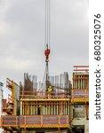 construction worker wearing... | Shutterstock . vector #680325076
