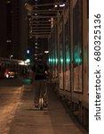 young man wearing helmet and... | Shutterstock . vector #680325136