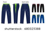 vector illustration of pants.... | Shutterstock .eps vector #680325388