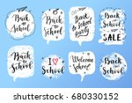 back to school labels  greeting ... | Shutterstock .eps vector #680330152