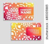 set of business cards. vintage... | Shutterstock .eps vector #680335885