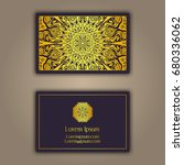luxury business cards with... | Shutterstock .eps vector #680336062