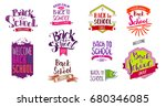 big set of welcome back to... | Shutterstock . vector #680346085