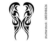 tattoo tribal vector design....   Shutterstock .eps vector #680348626