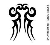 tattoo tribal vector design.... | Shutterstock .eps vector #680348656