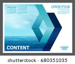 seascape and blue sky... | Shutterstock .eps vector #680351035